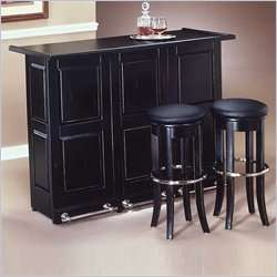 Styles Furniture Black Folding Cabinet Home Bar 095385053888