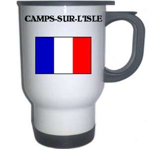 France   CAMPS SUR LISLE White Stainless Steel Mug