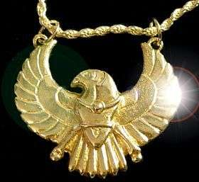 Egyptian HORUS Egypt pendant charm Silver Gold Plated
