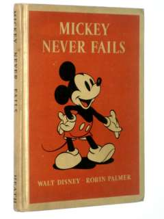 ANTIQUE 1939 1ST ED MICKEY NEVER FAILS MICKEY MOUSE DISNEY MINNIE