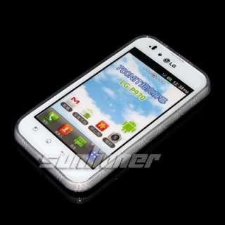 LG P970 Optimus Black TPU Silicone Case Cover + Screen Guard . CLEAR