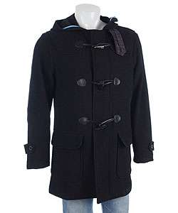 Alexander Julian Mens Wool Hooded Duffle Coat