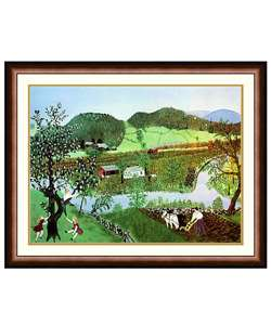 Hoosick River by Grandma Moses Framed Print  Overstock
