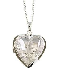 Sterling Silver Love Heart Locket Necklace