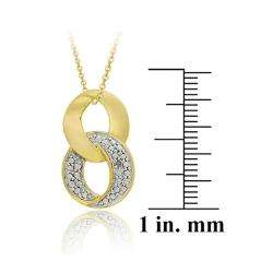 18k Two tone Gold over Silver Diamond Accent Infinity Necklace