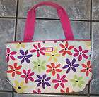 Jim Thompson White Pink Floral Canvas Bag Tote Purse
