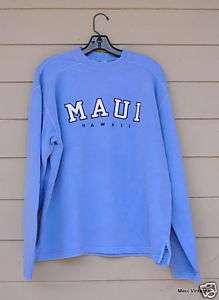 Maui Hawaii Embroidered Sweatshirt NWT Several Colours