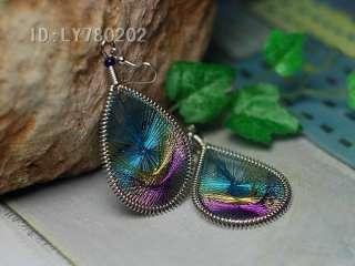 silk thread earrings blue purple or blue brown random shipments size