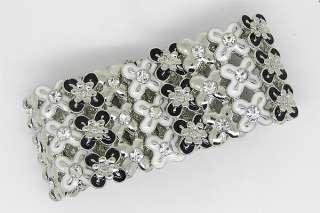 Elegant Bracelet Bangle Cuff W swarovski crystal B269