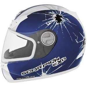 Scorpion Impact EXO 400 On Road Motorcycle Helmet   Blue
