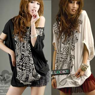 Special Pattern Shoulder Off Casual Women Blouse Shirts