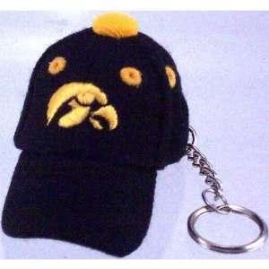 Iowa Hawkeyes Black Baseball Cap Key Chain Sports