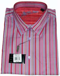 Bugatchi Uomo NWT XXL 100% Cotton Long Sleeve Mens Dress Shirt Stripes