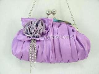 Lt Purple Wedding/Evening Clutch Jeweled Crystal Tassel KD 04236