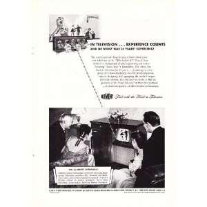 1947 Ad Du Mont Sherwood Television Original Vintage TV Print Ad