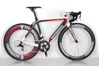 TREBISACCE SRAM RED BLACK SL CARBON ROAD BIKE BICYCLE AERO 85/50 52 cm