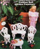 Plastic Canvas Fashion Doll Garden Furniture AA