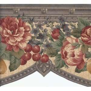 Wallpaper Border Victorian Fruit & Floral Swag: Kitchen