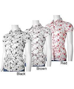 Paper Tee Womens Cap Sleeve Embroidered Shirt