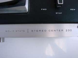Sony Vtg Reel to Reel Tape Recorder Tapecorder TC 230 Sterecorder
