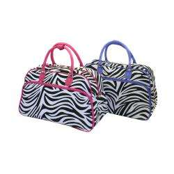 World Traveler Zebra Print Shoulder Tote Bag