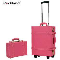 Rockland Pink Handmade 2 piece Carry On Luggage Set