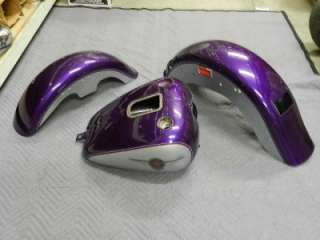 Softail Fatboy Purple Ice Paint Set Gas Tank Front Rear Fenders