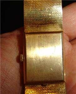 VINTAGE 14K GOLD OMEGA MENS GOLD WATCH