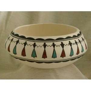Pueblo Indian Tigua Friendship Bowl   7 wide  Kitchen