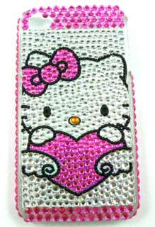 new hello kitty cat Apple iphone 4 4G 4S bling skin back