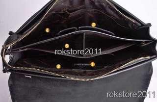 13 Large High Quality Mens Genuine Leather Shoulder Briefcase