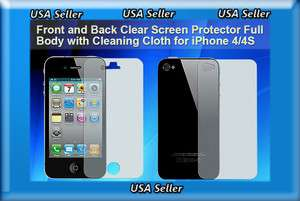 Clear Screen Guard/Protector for Iphone4 Iphone 4 4G 4S *FULL BODY