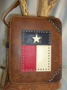 MONTANA WEST brand TEXAS FLAG Western Style BIBLE Book COVER