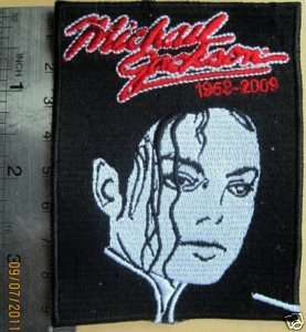 MICHAEL JACKSON TRIBUTE PATCH in memory of MJ 1958 2009