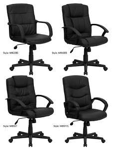 Office or Home Office Furniture Mid Back Leather Chairs
