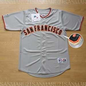 San Francisco Giants Majestic SEWN jersey Gray LG NWT