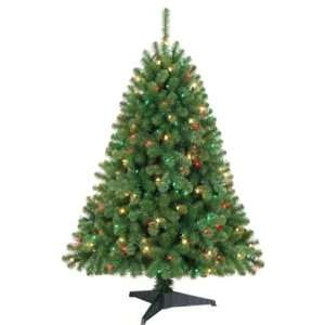 Home 4.5ft Endicott Pine Christmas Tree with 200 Multi color Lights