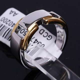 New Arrival 9MM 18K Yellow and White Gold Plated Ring 94775