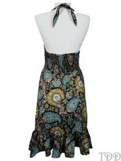 NEW $128 Tommy Bahama Paisley Smocked Sun Dress New M