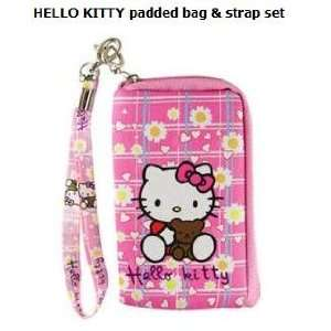 HELLO KITTY Cell Phone padded bag & strap set Everything