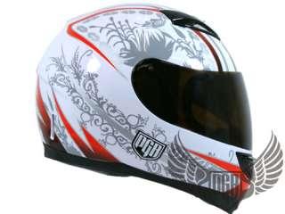 Dual Visor Full Face Motorcycle Helmet Matte Pink ~ S