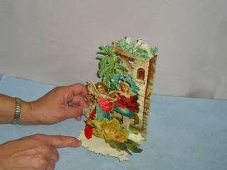 Vintage Valentine Greeting Card Germany 3D Die Cut Honeycomb