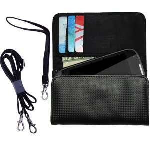 Black Purse Hand Bag Case for the Samsung SPH M930 with both a hand