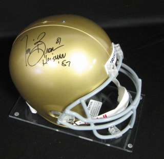 Tim Brown Notre Dame Auto/Signed Inscribed 87 Heisman Full Size Helmet