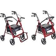 Drive Medical Duet Transport Wheelchair Chair Rollator Walker Aluminum