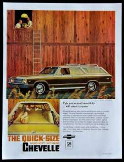 1967 Chevrolet Chevelle Station Wagon Car Magazine Ad