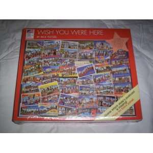 Wish You Were Here 550 Piece Jigsaw Puzzle Toys & Games