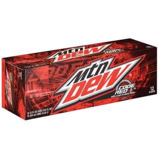 Mountain Dew Code Red Soda, 12 oz, 12pk