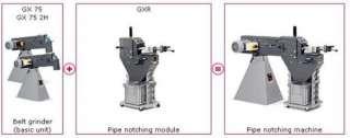 """FEIN """"GRIT"""" GX75 + GXR 3"""" PIPE NOTCHER & HIGH PERFORMANCE BELT"""