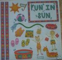 POOL PARTY FUN IN THE SUN SUMMER EMBOSSED SCRAPBOOK KIT